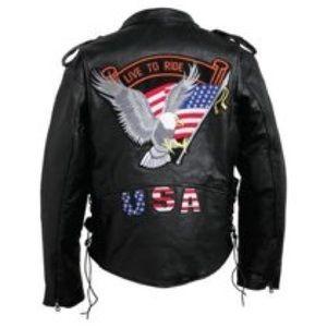 DIAMOND PLATE Buffalo Leather Biker Jacket 2X NWT